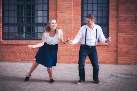 Sesja zokazji rocznicy ślubu - stylizowana nalindy hop
